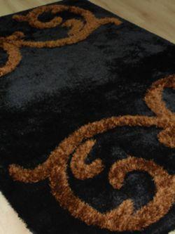 Damask shaggy 132 Black