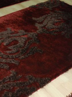 Damask shaggy 121 Red