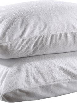 Αδιάβροχες Προστατευτικές Μαξιλαροθήκες Ζεύγος  50x70  Λευκό