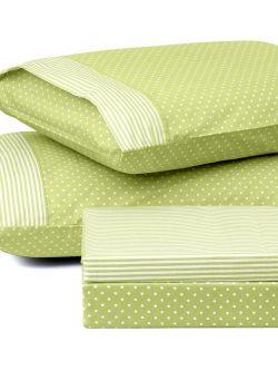 Ζεύγος μαξιλαροθήκες πουά JOY Art 1680 50x70 Πράσινο