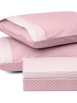 Ζεύγος μαξιλαροθήκες πουά JOY Art 1680 50x70 Ροζ