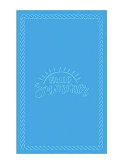 Πετσέτα θαλάσσης Art 2127 80x160 Γαλάζιο