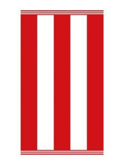 Πετσέτα θαλάσσης Art 2130 80x160 Κόκκινο