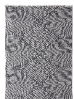 Βαμβακερό Χαλί Casa Cotton 22091 Black -  067x140 cm Royal Carpet