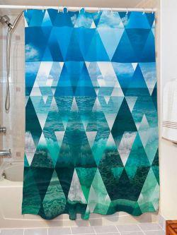 Κουρτίνα μπάνιου Waves Art 3064  190x280  Γαλάζιο