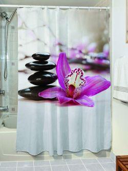 Κουρτίνα μπάνιου Peace Art 3129 190x180 Εμπριμέ