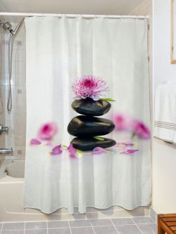 Κουρτίνα μπάνιου Spa Art 3181 190x180 Εμπριμέ