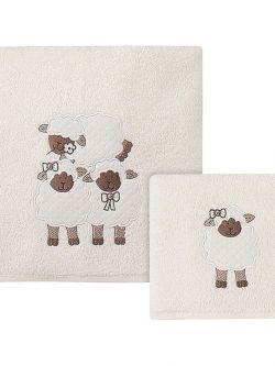 Σετ πετσέτες Game on Art 5103  Σετ 2τμχ  Εκρού,Μπεζ