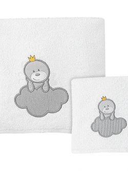 Σετ πετσέτες Addicted to love Art 5107  Σετ 2τμχ  Λευκό,Γκρι