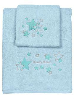 Σετ πετσέτες Art 5148  Σετ 2τμχ  Γαλάζιο