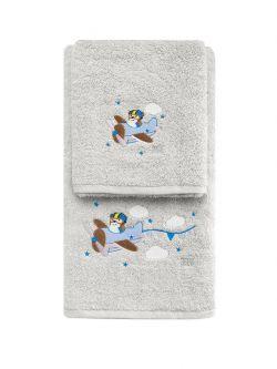 Σετ πετσέτες Art 520-2  Σετ 2τμχ Γκρι