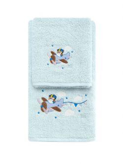 Σετ πετσέτες Art 5203  Σετ 2τμχ Γαλάζιο