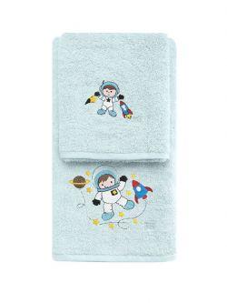 Σετ πετσέτες Art 5204  Σετ 2τμχ Γαλάζιο
