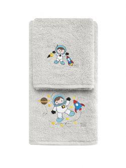 Σετ πετσέτες Art 5206  Σετ 2τμχ Γκρι