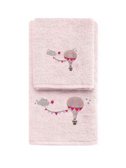 Σετ πετσέτες Art 5207  Σετ 2τμχ Ροζ