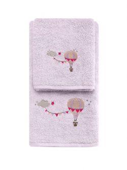 Σετ πετσέτες Art 5209  Σετ 2τμχ Μωβ