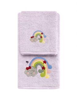 Σετ πετσέτες Art 5210  Σετ 2τμχ Μωβ