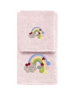 Σετ πετσέτες Art 5211  Σετ 2τμχ Ροζ
