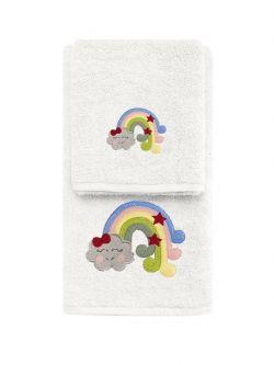 Σετ πετσέτες Art 5212  Σετ 2τμχ Εκρού