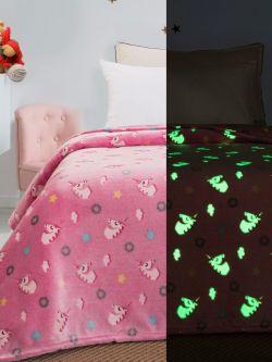 Κουβέρτα μονή φωσφορίζουσα Art 6093  160x220 Ροζ