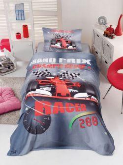 Σετ κουβερλί μονό Racer Art 6115  160x240  Γκρι,Κόκκινο
