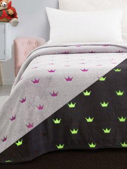 Κουβέρτα μονή φωσφορίζουσα Art 6144 160x220 Γκρι