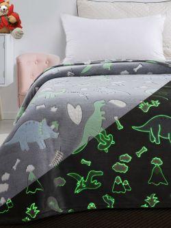 Κουβέρτα μονή φωσφορίζουσα Art 6145 160x220 Γκρι