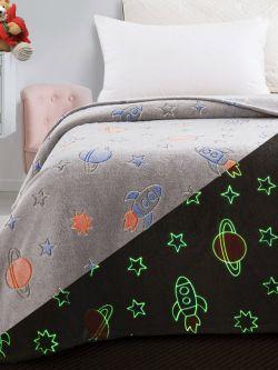 Κουβέρτα μονή φωσφορίζουσα Art 6149 160x220 Γκρι