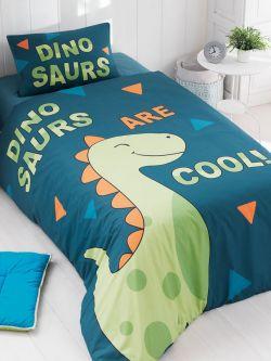 Σετ κουβερλί μονό Dinosaurs Art 6166  160x240 Μπλε,Πράσινο