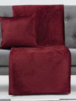Ριχτάρι Διθέσιο Velvety 180x250 Art 8352  Κόκκινο