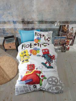 Παιδικό σετ σεντόνια ROBOTS