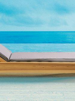 Μαξιλάρι ξαπλώστρας Restia με ντυμένο κορδόνι Γκρι 198x58x5,5