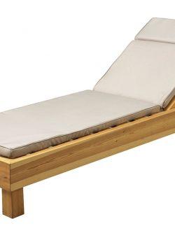 Μαξιλάρι ξαπλώστρας Restia με ντυμένο κορδόνι Μπεζ 198x58x5,5