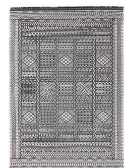 Βαμβακερό Χαλί Casa Cotton 22094 Black -  067x140 cm Royal Carpet